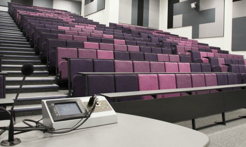Lecture theatre at The University of Manchester