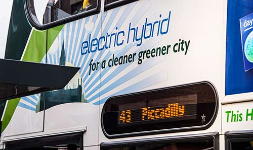 Electric-hybrid bus
