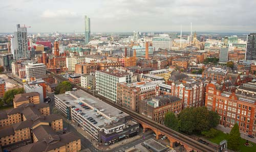 Manchester city centre skyline
